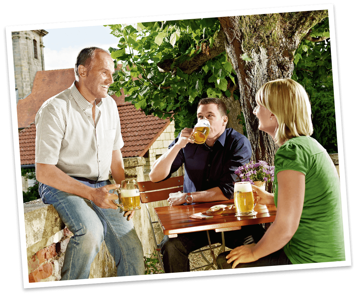 Fränkischer Biergarten - Kulmbacher Edelherb Alkoholfrei