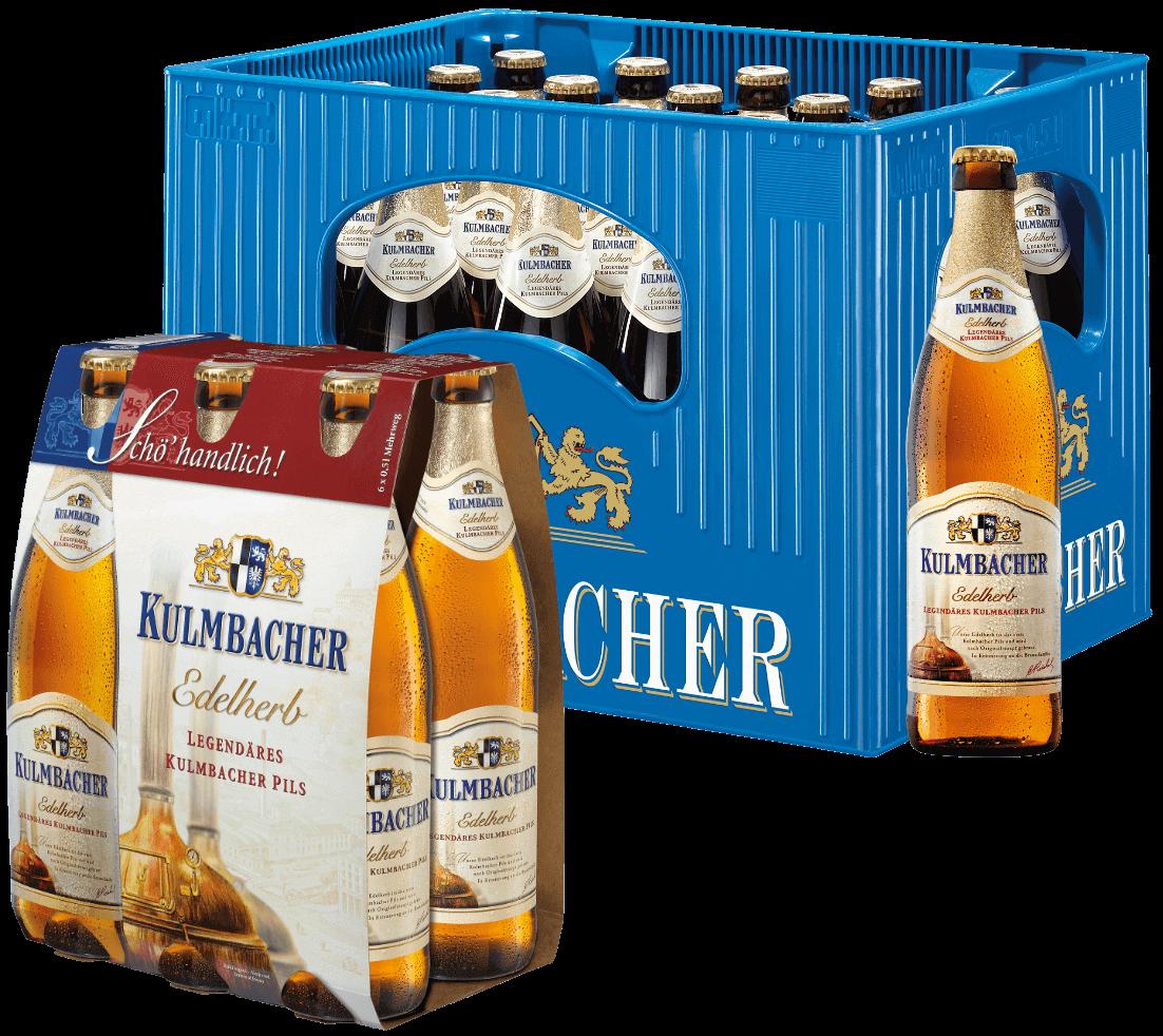Bierkasten und Sechser - Kulmbacher Edelherb